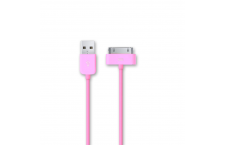 Cable Dock de Datos y Carga Iphone Rosa